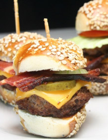birthday party food ideas - mini hamburgers