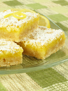 cocktail party food - lemon squares recipe