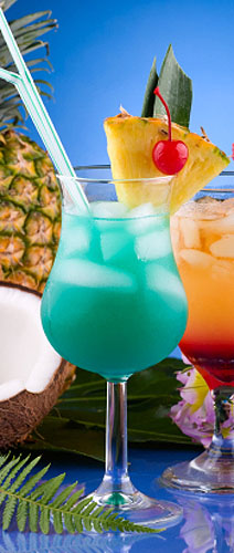 luau recipes - blue hawaii cocktail