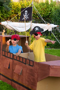 pirate birthday party ship