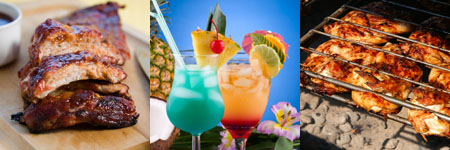 luau party ideas - food